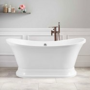 60 In Pure White Acrylic Freestanding Bathtub (DK-PW-A52603)