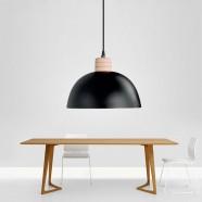 1-Light Black Iron Modern Pendant Light (HYMUP1209D-1)