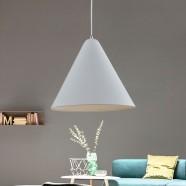 1-Light White Aluminum Modern Pendant Light (HKP31411-1)