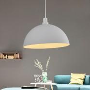 1-Light White Aluminum/Stone Modern Pendant Light (HKP31413-1)