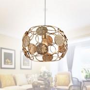 1-Light Gold Iron Modern Pendant Light (HKP31429-1)