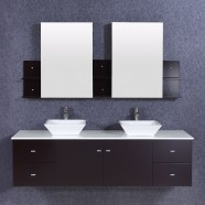 72 In. Bathroom Vanity Set with Double Sinks and Mirrors (DK-T9147-SET)