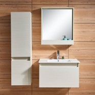 31 In. Wall Mount Bathroom Vanity Set with Mirror and Side Cabinet (DK-657800-SET)