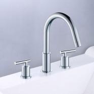 3 Pieces Bathtub Faucet - Brass with Chrome Finish (83H12-CHR-T)