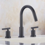 Basin&Sink Faucet - Brass with Matte Black Finish (83H12-MB)
