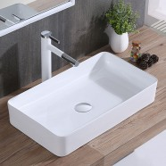 White Rectangle Ceramic Above Counter Basin (CL-1320)