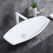 White Ceramic Above Counter Basin (CL-1302)