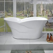 59 In Freestanding Bathtub - Acrylic Pure White (DK-PW-82572)