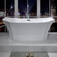 59 In Freestanding Bathtub - Acrylic Pure White (DK-PW-78575)