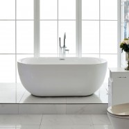 59 In Freestanding Bathtub - Acrylic Pure White (DK-PW-44572)
