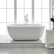 59 In Freestanding Bathtub - Acrylic Pure White (DK-PW-44572)