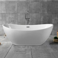62 In Freestanding Bathtub - Acrylic Pure White (DK-PW-10672)