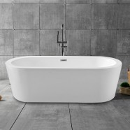 70 In Freestanding Bathtub - Acrylic Pure White (DK-PW-1782)