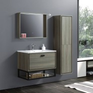 32 In. Wall Mount Vanity Set with Linen Cabinet and Mirror (VSW8001-SET)