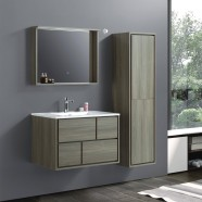 32 In. Wall Mount Vanity Set with Linen Cabinet and Mirror (VSW8002-SET)