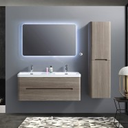 48 In. Wall Mount Vanity Set with Linen Cabinet and LED Mirror (BNW1200D-SET)