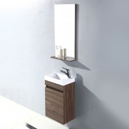 16 In. Wall Mount Vanity Set with Mirror and Basin (MS400D-SET)