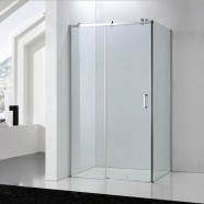 60 In. Sliding Shower Door with Wheels and 36 In. Side Panel (DK-SC027)