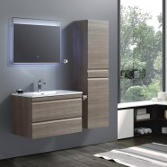 32 In. Wall Mount Vanity Set with Linen Cabinet and LED Mirror (ZRW8002-SET)