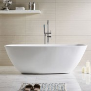 71 In Freestanding Bathtub - Acrylic White (DK-Q169-18)