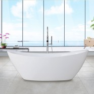 63 In Freestanding Bathtub - Acrylic White (DK-Q157-16)