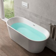 63 In Freestanding Bathtub - Acrylic White (DK-Q163-16)