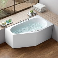 67 In Whirlpool Bathtub - Acrylic White (DK-M12785L-C)