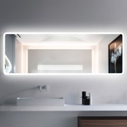 55 x 20 In Horizontal LED Bathroom Mirror with Infrared Sensor (DK-CK201)