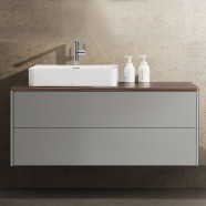 47 In. Wall Mount Vanity with White Double Basin (DW1202-V)
