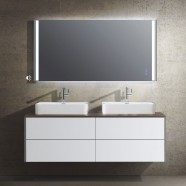 63 In. Wall Mount Bathroom Vanity Set with LED Mirror (DW1604D-SET)