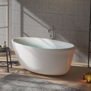 BATHPRO 59 In High-end Freestanding Bathtub - Acrylic Matte White (DK-MF-125573)