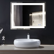 Decoraport 36 x 28 In LED Bathroom Mirror with Touch Button, Anti-Fog, Dimmable, Vertical & Horizontal Mount (CK010-3628-TS)