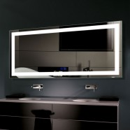 Decoraport 60 x 28 In LED Bathroom Mirror with Touch Button, Anti-Fog, Dimmable, Vertical & Horizontal Mount (CK010-6028-TS)