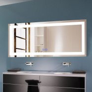 Decoraport 70 x 32 In LED Bathroom Mirror with Touch Button, Bluetooth, Anti-Fog, Dimmable, Vertical & Horizontal Mount (CK010-7032-TX)