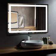 Decoraport 48 x 36 In LED Bathroom Mirror with Infrared Sensor Control, Anti-Fog, Vertical & Horizontal Mount (CK010-4836-GS)