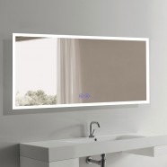 Decoraport 70 x 32 In LED Bathroom Mirror with Touch Button, Anti-Fog, Dimmable, Vertical & Horizontal Mount (N031-7032-TS)