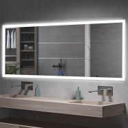DECORAPORT 60 x 28 Inch LED Bathroom Mirror/Dress Mirror with Touch Button, Anti Fog, Dimmable, Vertical & Horizontal Mount (NT04-6028)