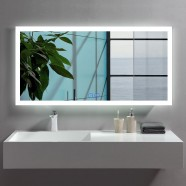 DECORAPORT 48 x 24 Inch LED Bathroom Mirror/Dress Mirror with Touch Button, Anti Fog, Dimmable, Vertical & Horizontal Mount (NT09-4824)