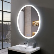 DECORAPORT 20 x 28 Inch LED Bathroom Mirror/Dress Mirror with Touch Button, Anti Fog, Dimmable, Vertical Mount (TT01-2028)