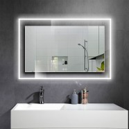 DECORAPORT 55 x 36 Inch LED Bathroom Mirror with Touch Button, Anti Fog, Dimmable, Bluetooth Speakers, Vertical & Horizontal Mount (D322-5536A)