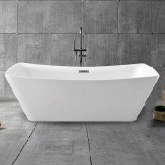 67 In Pure White Acrylic Freestanding Bathtub (DK-PW-4777)