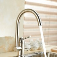 SUPOR Modern Style Stainless Steel Lead Free Kitchen Faucet (250607-01-LS)