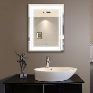 24 x 32 In Vertical LED Lighted Bathroom Mirror, Touch Button (DK-OD-CK150)
