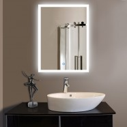 24 x 32 In Vertical LED Lighted Bathroom Silvered Mirror, Touch Button (DK-OD-N031)