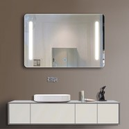 In Horizontal LED Bathroom Mirror, Touch