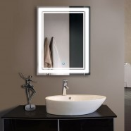 28 x 36 In Vertical LED Illuminated Bathroom Mirror, Touch Button (DK-OD-CK160-I)