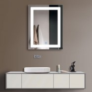 24 x 32 In Vertical LED Lighted Bathroom Mirror, Touch Button (DK-OD-CK168)