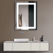 28 x 36 In Vertical LED Mirror, Touch Button (DK-OD-CK168-I)