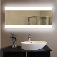 80 x 36 In. Horizontal LED Backlit Bathroom Silvered Mirror, Touch Button (DK-OD-T03-2)