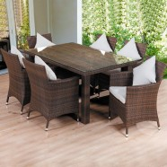 7 Pieces Dining Set: 1 * Dining table, 6 * Chair (JMS-322)